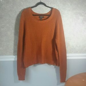 FOREVER 21 | Pumpkin Fall Knit Sweater Size 3X